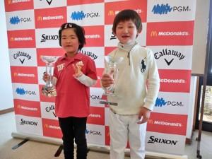 世界ジュニア出場を決めた矢野(右)と山本