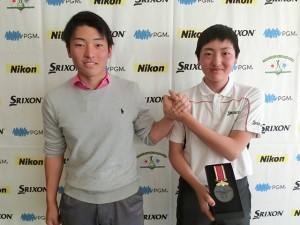 男子13-14優勝の小村隼士(右)と、兄で15-17歳2位で通過の優太