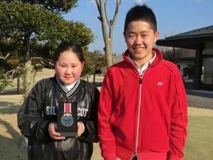 倉林紅(左)と兄・太聖