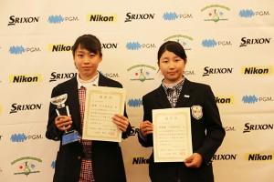石川茉友夏(左)、六車日那乃