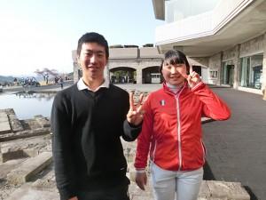 杉浦悠太(左)と妹・愛梨