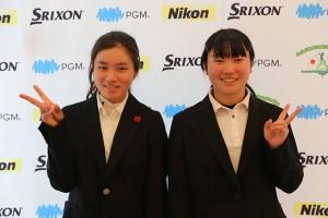 杉浦愛梨(右)、藤井美羽
