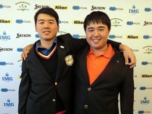 男子15-18代表の竹原(左)と芳崎