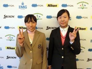 女子13-14代表の高野(右)と三明