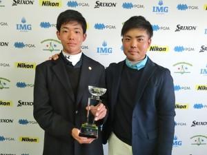 男子15-18歳代表の亀井壮汰(左)と蝉川泰果