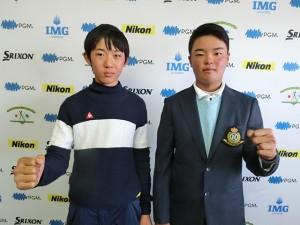 男子13-14歳代表の吉田京介(右)と新井龍紀